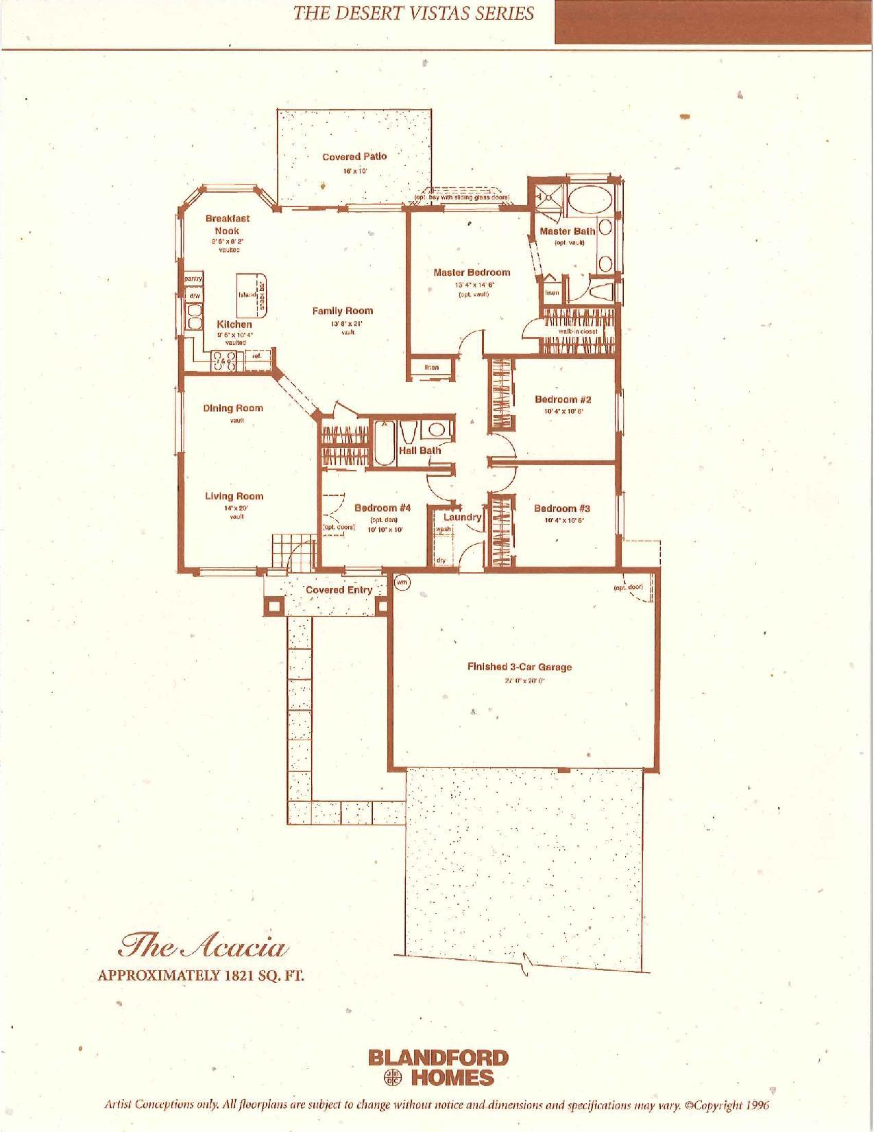 The Acacia 1821 SQ FT