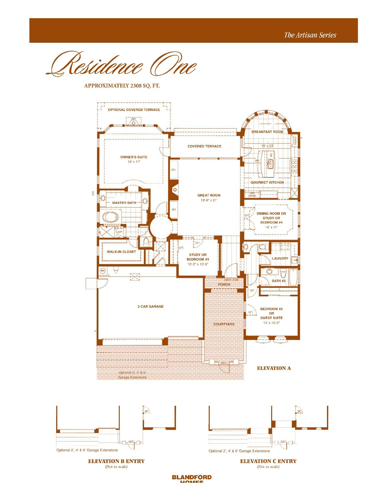 Artisan Res. One 2308 SQ FT