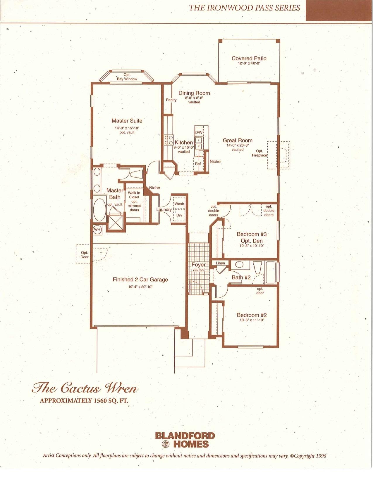 Cactus Wren 1560 sq ft