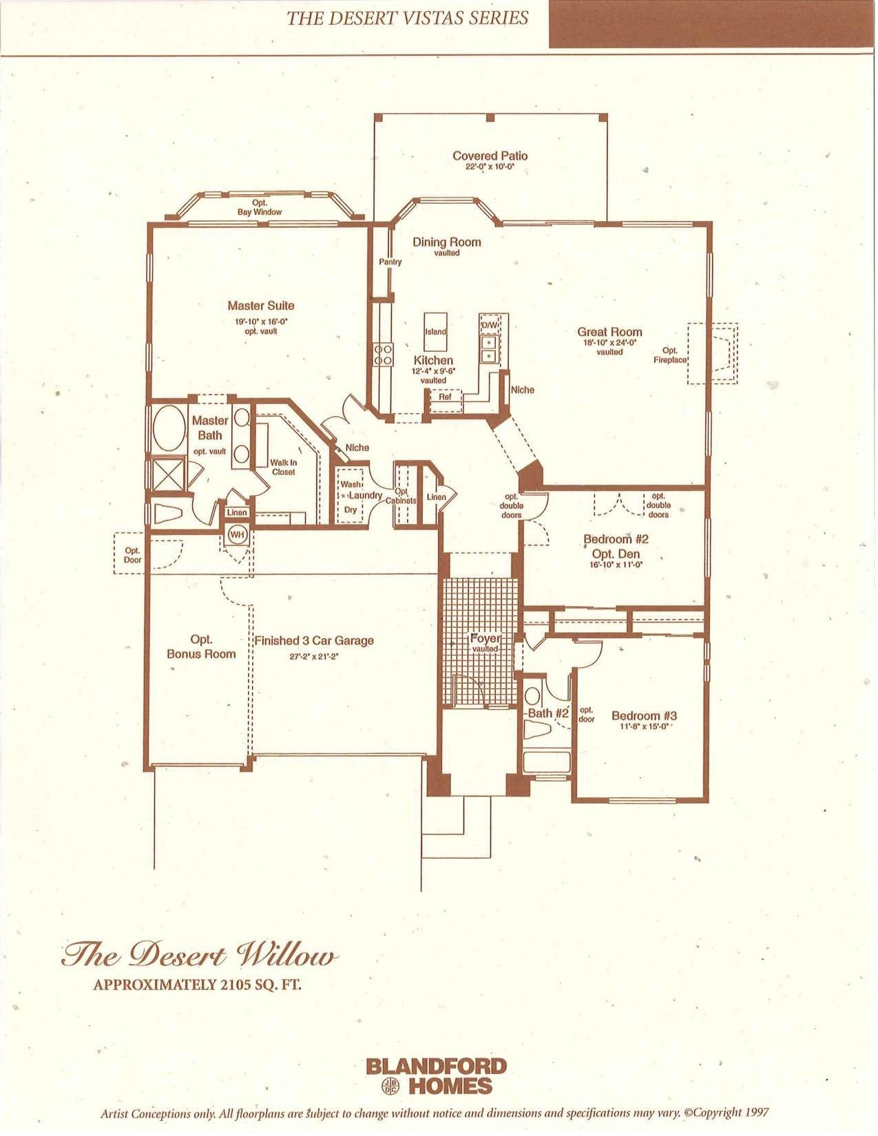 Desert Willow 2105 SQ FT
