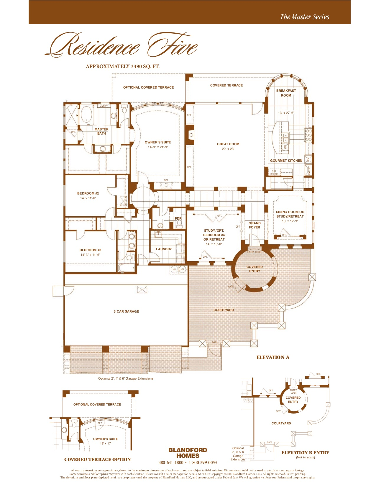 Master Res. Five 3490 SQ FT